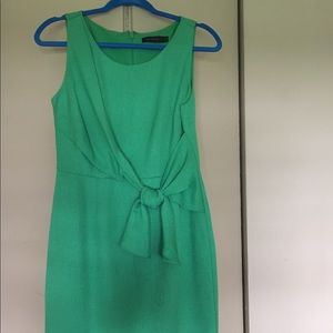 The Limited Green Bow Dress